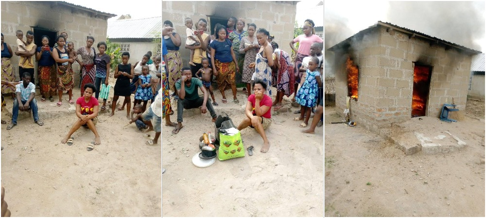 Woman Sets Her Boyfriend's House On Fire Over A LIttle Misunderstanding In Benue [Photos] 1