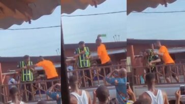 Angry Driver Breaks Bottle On Policeman's Head For Trying To Impound His Car In Lagos [Video] 3