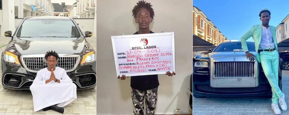 EFCC Arrests Popular Instagram Comedian, Pankeeroy For Alleged Internet Fraud In Lagos 1