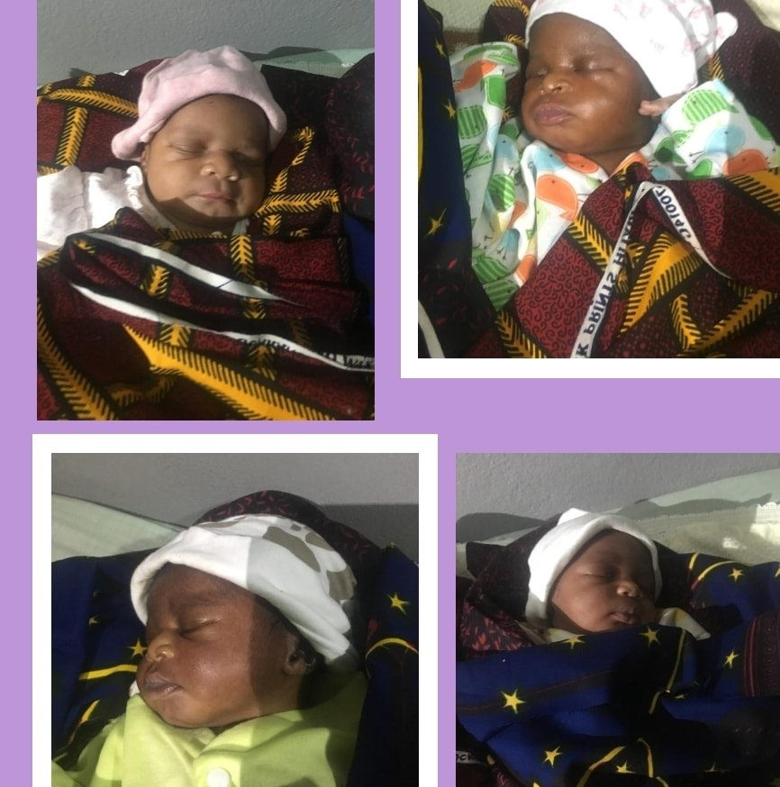Anambra Couple Welcomes Quadruplets After 16 Years Marriage And Struggling For A Child 6