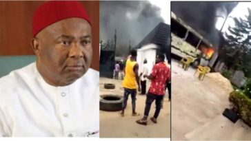 Imo Governor Hope Uzodinma's House And Vehicles Set Ablaze, Two Security Aides Killed [Video] 3