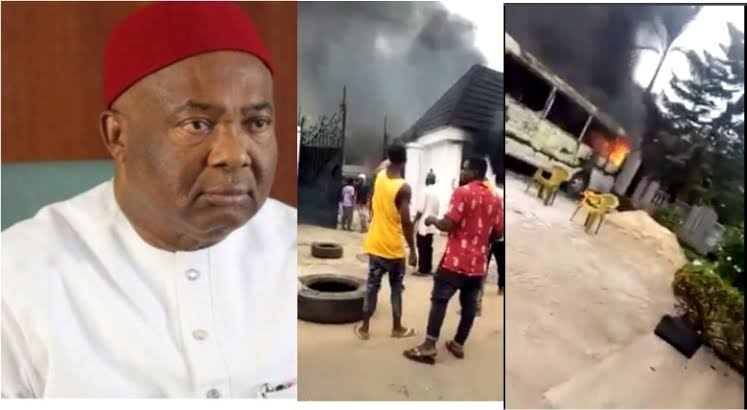 Imo Governor Hope Uzodinma's House And Vehicles Set Ablaze, Two Security Aides Killed [Video] 1