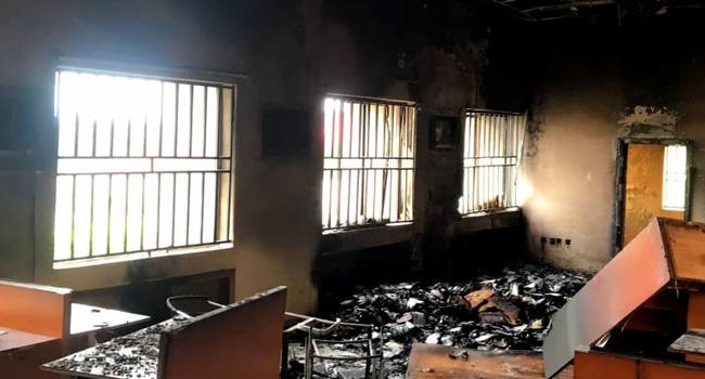 Federal High Court Set Ablaze By Unknown Gunmen In Ebonyi [Photos] 2