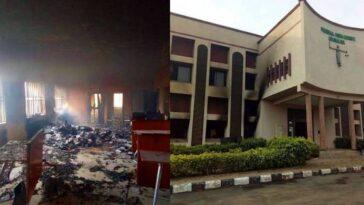 Federal High Court Set Ablaze By Unknown Gunmen In Ebonyi [Photos] 6