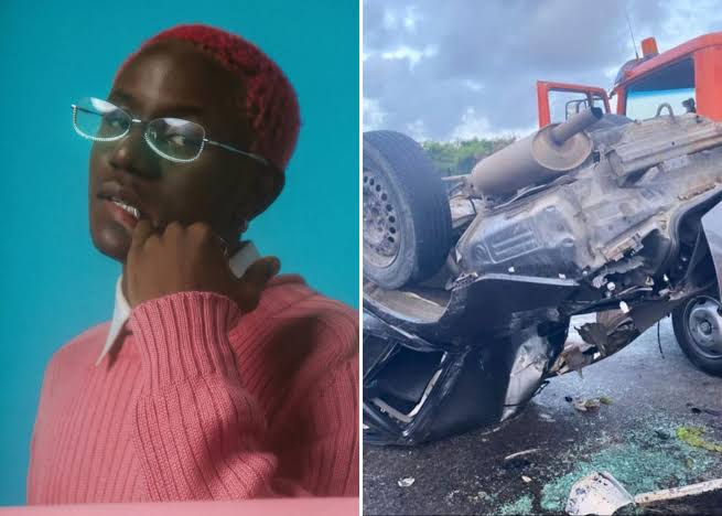 Nigerian Rapper, Victony Involved In Fatal Car Accident, Set To Undergo Major Surgery 1