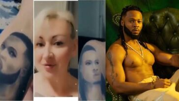 Russian Lady Reveals Why She Tattooed Nigerian Singer Flavour On Her Body [Video] 2