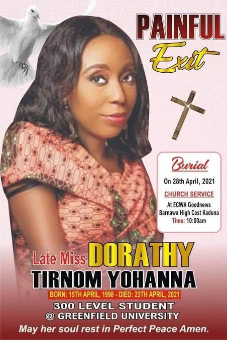Slain Greenfield University Student, Dorothy Yohanna Buried Amid Tears In Kaduna [Photos] 6