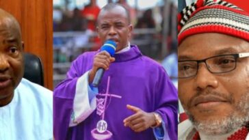 """Governor Hope Uzodinma Is Dead, God Bless Nnamdi Kanu"" - Fr Mbaka Says In Viral Video 6"