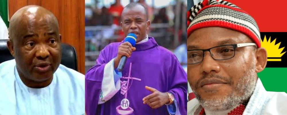 """""""Governor Hope Uzodinma Is Dead, God Bless Nnamdi Kanu"""" - Fr Mbaka Says In Viral Video 1"""