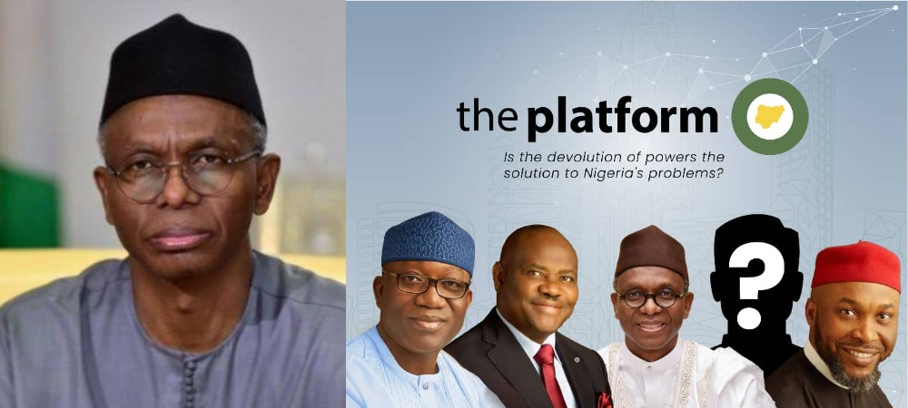Outrage Among Nigerians As The Platform Invites El-Rufai To Discuss Devolution Of Powers 1