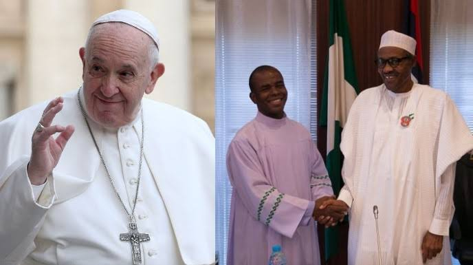 Fr Mbaka Admits Meeting President Buhari For Contract, Dares APC To Report Him To Pope 1