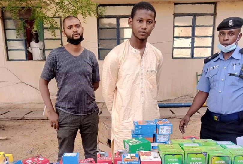 Police Arrests 23-Year-Old Man Who Stole 273 Phones Worth N15 Million In Katsina [Photos] 2