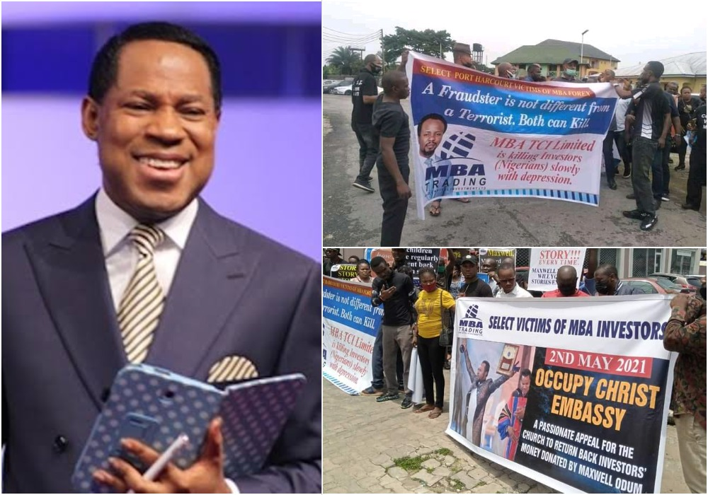 Maxwell Odum: MBA Forex Victims Protest At Christ Embassy, Ask Pastor Oyakhilome To Return Investors' Money 1