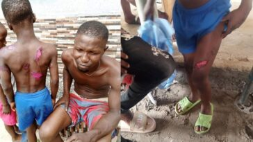 Police Arrests Man For Brutalizing His Son With Hot Knife And Cutlass In Delta State [Photos] 3