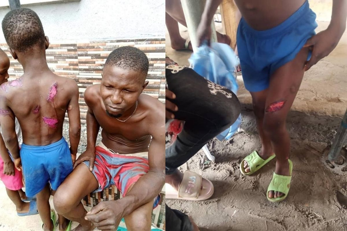 Police Arrests Man For Brutalizing His Son With Hot Knife And Cutlass In Delta State [Photos] 1