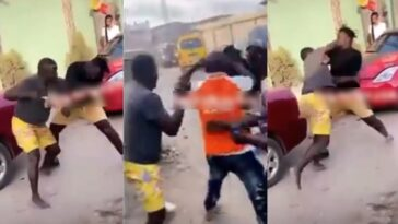 Two MCs Caught On Camera Fighting Publicly Over Who Will Hype An Event In Lagos [Video] 13