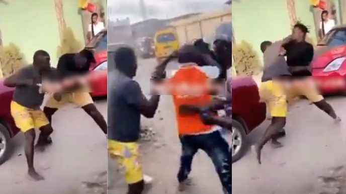 Two MCs Caught On Camera Fighting Publicly Over Who Will Hype An Event In Lagos [Video] 1