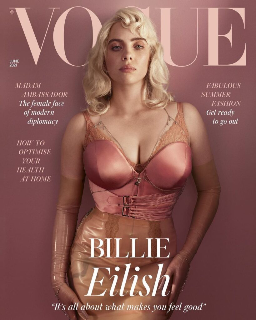 Billie Eilish Appears Different As We Know Her On Cover For British Vogue Magazine 4