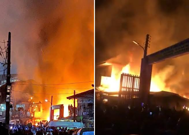 Goods Worth Millions Of Naira Destroyed As Fire Guts Cairo Market In Oshodi, Lagos [Video] 1
