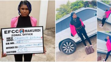 EFCC Arrests Young Lady Hours After She Flaunted Her Flashy Car On Social Media 2
