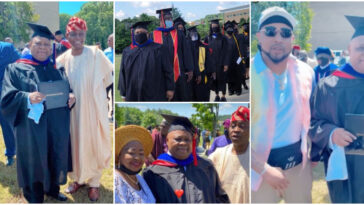 B-Red's Father, Senator Ademola Adeleke Bags Degree In American University [Photos/Video] 13