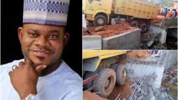 Kogi Bridge Constructed By Governor Yahaya Bello Collapses Just A Week After Completion 7