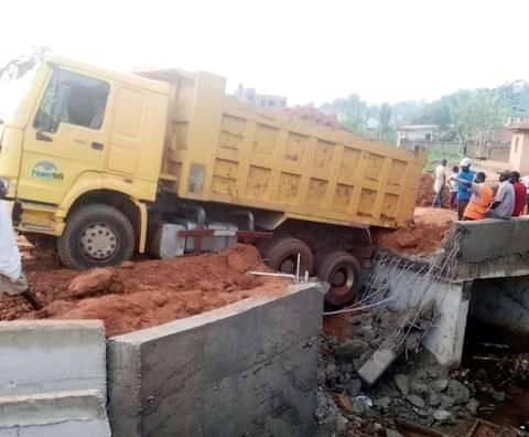 Kogi Bridge Constructed By Governor Yahaya Bello Collapses Just A Week After Completion 2