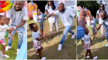 Davido Scolds His 4-Year-Old Daughter, Hailey For Twerking At Her Birthday Party In US [Video] 8