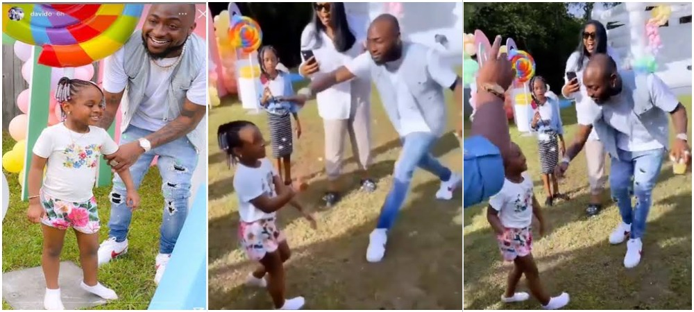 Davido Scolds His 4-Year-Old Daughter, Hailey For Twerking At Her Birthday Party In US [Video] 1