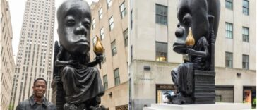 Outrage As Sanford Biggers Unveils 25-Foot Statue In New York City To Honor African Culture 24