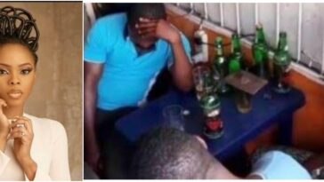 Nigerian Singer, Chidinma Ekile Storms Beer Parlour To Preach The Gospel Of God [Video] 11