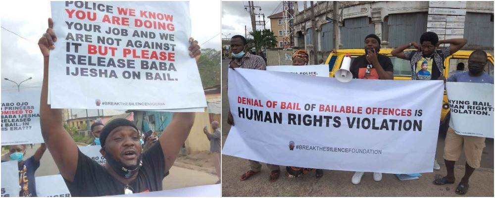 Actor Yomi Fabiyi, Others Protest At Panti Police Station Over Baba Ijesha's Detention [Video] 1