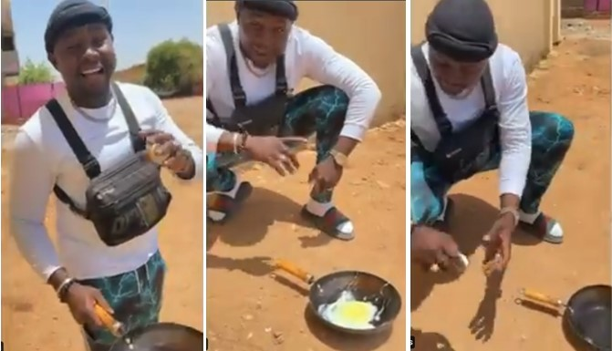 Man Uses Direct Heat From Sunlight To Fry Egg In Sudan [Video] 1