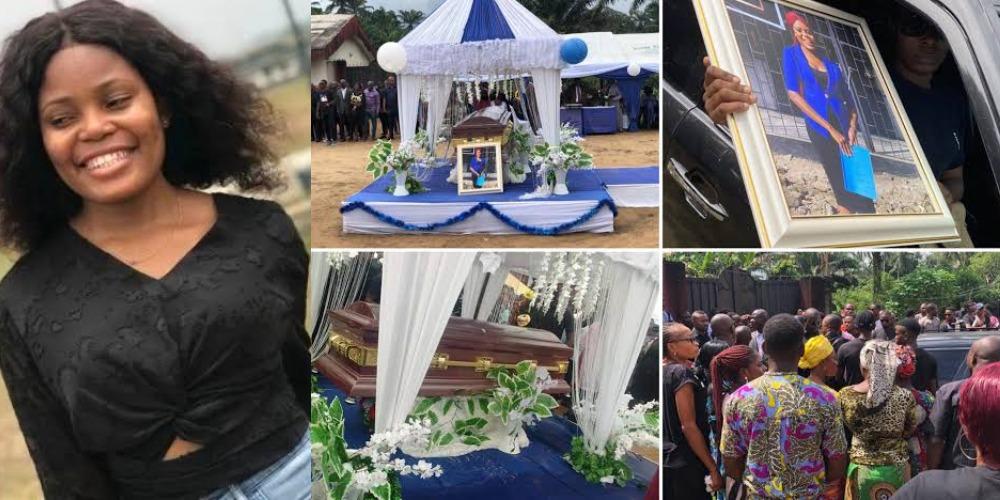 Burial Of Akwa Ibom Job Seeker, Iniubong Umoren Who Was Raped And Killed By Uduak Akpan 1