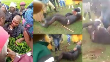 Man Beaten Up Publicly After He Was Accused Of Rαping A Secondary School Girl [Video] 2