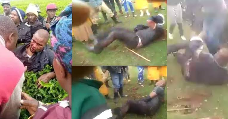 Man Beaten Up Publicly After He Was Accused Of Rαping A Secondary School Girl [Video] 1
