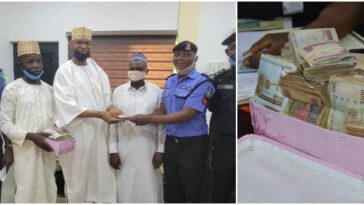 Police Sergeant Rewarded After Returning N1.2 Million Found At Accident Scene In Kano 8