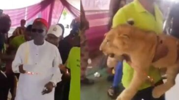 Businessman Storms His Father's Burial Ceremony With A Lion In Anambra [Video] 8