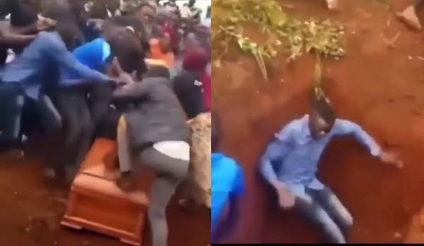 Family Members Engages In Serious Fight During Burial Of Their Loved One [Video] 1