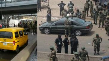 Nigerian Soldiers Takes Over Oshodi To Avenge Death Of Air Force Officer Killed By Hoodlums [Video] 2