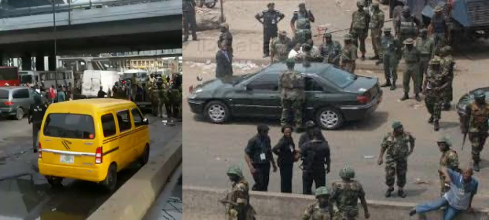 Nigerian Soldiers Takes Over Oshodi To Avenge Death Of Air Force Officer Killed By Hoodlums [Video] 1