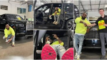 Davido Show Off His Newly Acquired 2021 Rolls Royce Worth N183 Million [Photos] 3