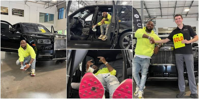 Davido Show Off His Newly Acquired 2021 Rolls Royce Worth N183 Million [Photos] 1