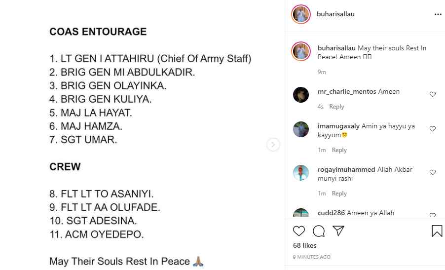 Watch Video Of Plane Crash That Killed Army Chief Ibrahim Attahiru, 11 Others In Kaduna 2
