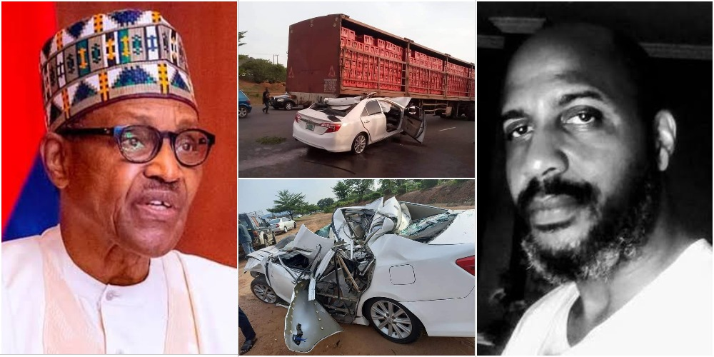 Buhari Mourns As Chuba Okadigbo's Son Dies In Accident After His Car Ran Under A Trailer 1