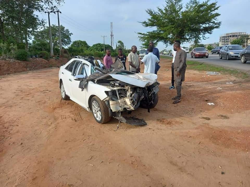 Buhari Mourns As Chuba Okadigbo's Son Dies In Accident After His Car Ran Under A Trailer 6