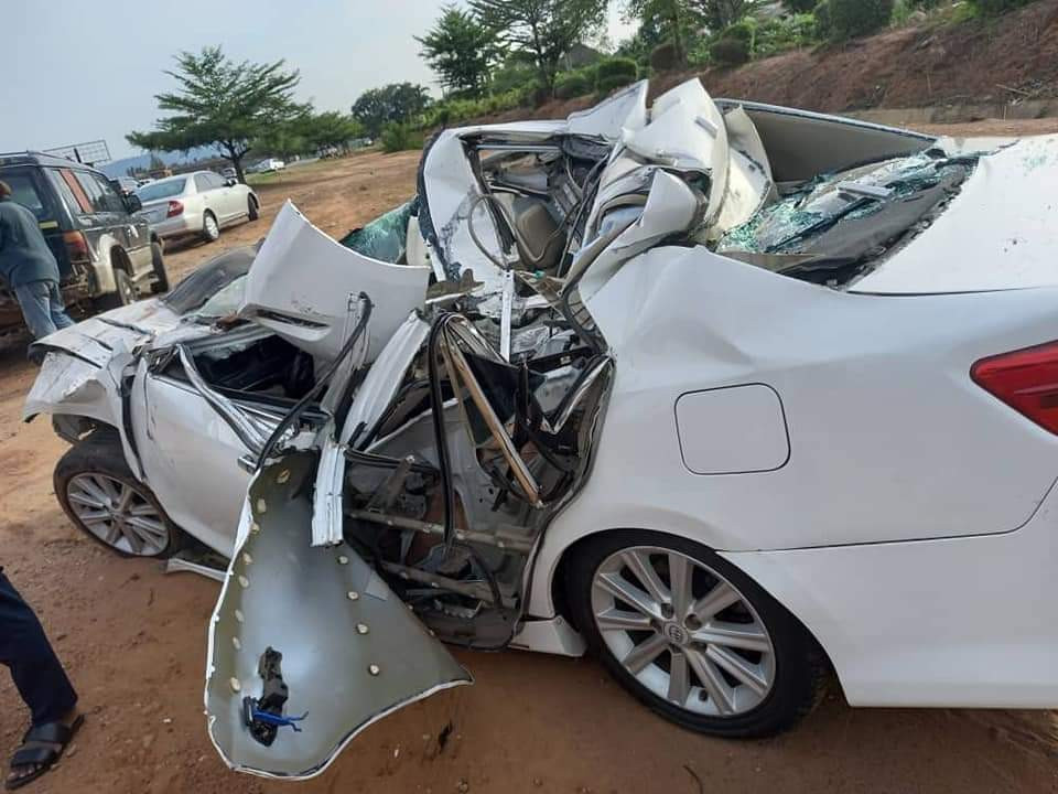 Buhari Mourns As Chuba Okadigbo's Son Dies In Accident After His Car Ran Under A Trailer 5
