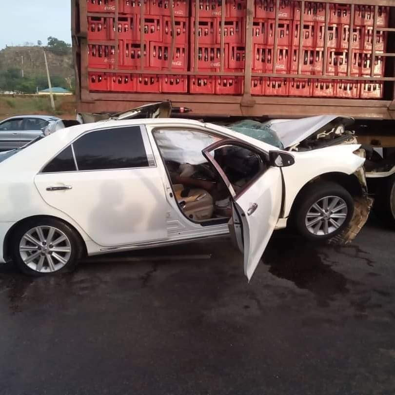 Buhari Mourns As Chuba Okadigbo's Son Dies In Accident After His Car Ran Under A Trailer 4