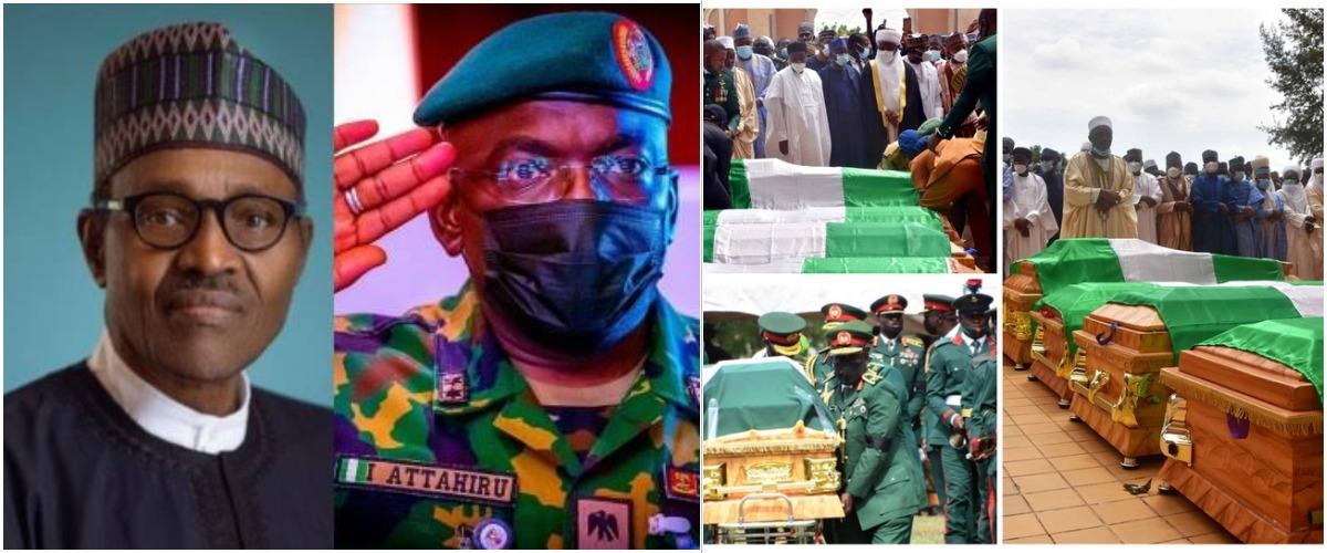 Buhari Didn't Attend Late COAS Attahiru's Burial Because Of Security Clearance - Presidency 1