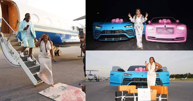 Man Gifts His Wife Rolls Royce, Lamborghini, Other Packages For Her Birthday [Photos/Video] 1